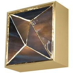 Gem_Gold V.3, Contemporary Wall Sconce in Glass and Brass by Kalin Asenov