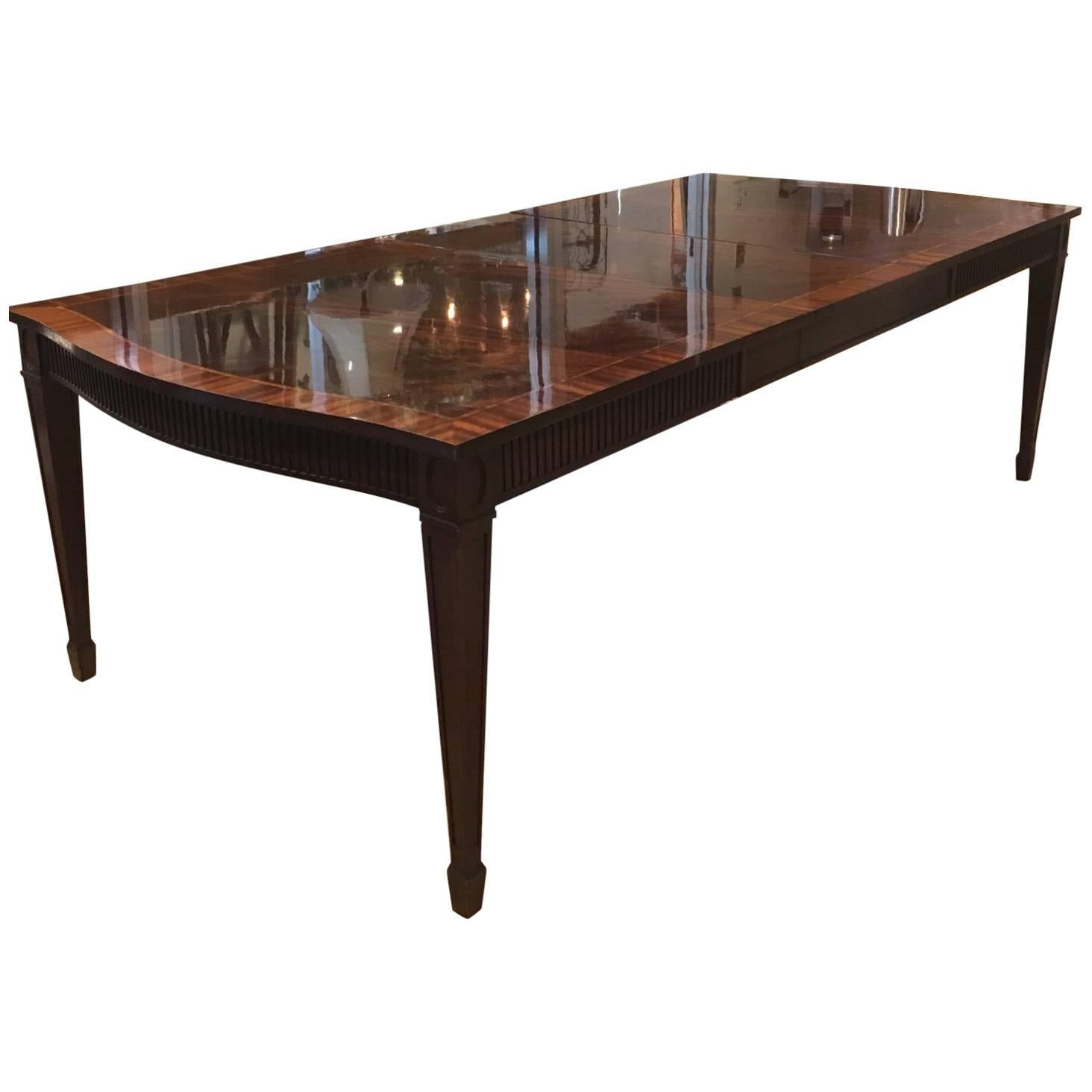 Tremendous Baker Dining Table With Inlay