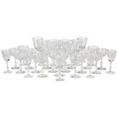 "1950s Fostoria Glass Co ""Navarre"" Stems, Set of 29"