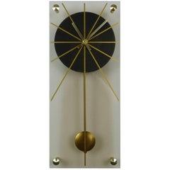 German Plexiglass Wall Clock, 1960s