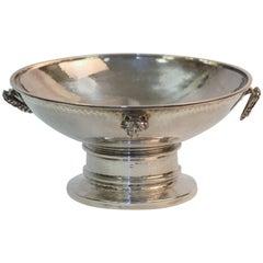 Art Deco Silver Hammer Finish Bowl, Albert Edward Jones, Birmingham, 1926
