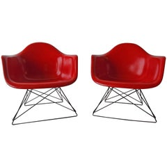 Charles Eames Herman Miller True Red Fiberglass Chairs