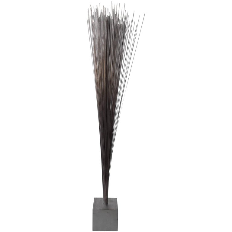 Vintage Modern Metal Spray Sculpture in the Style of Harry Bertoia