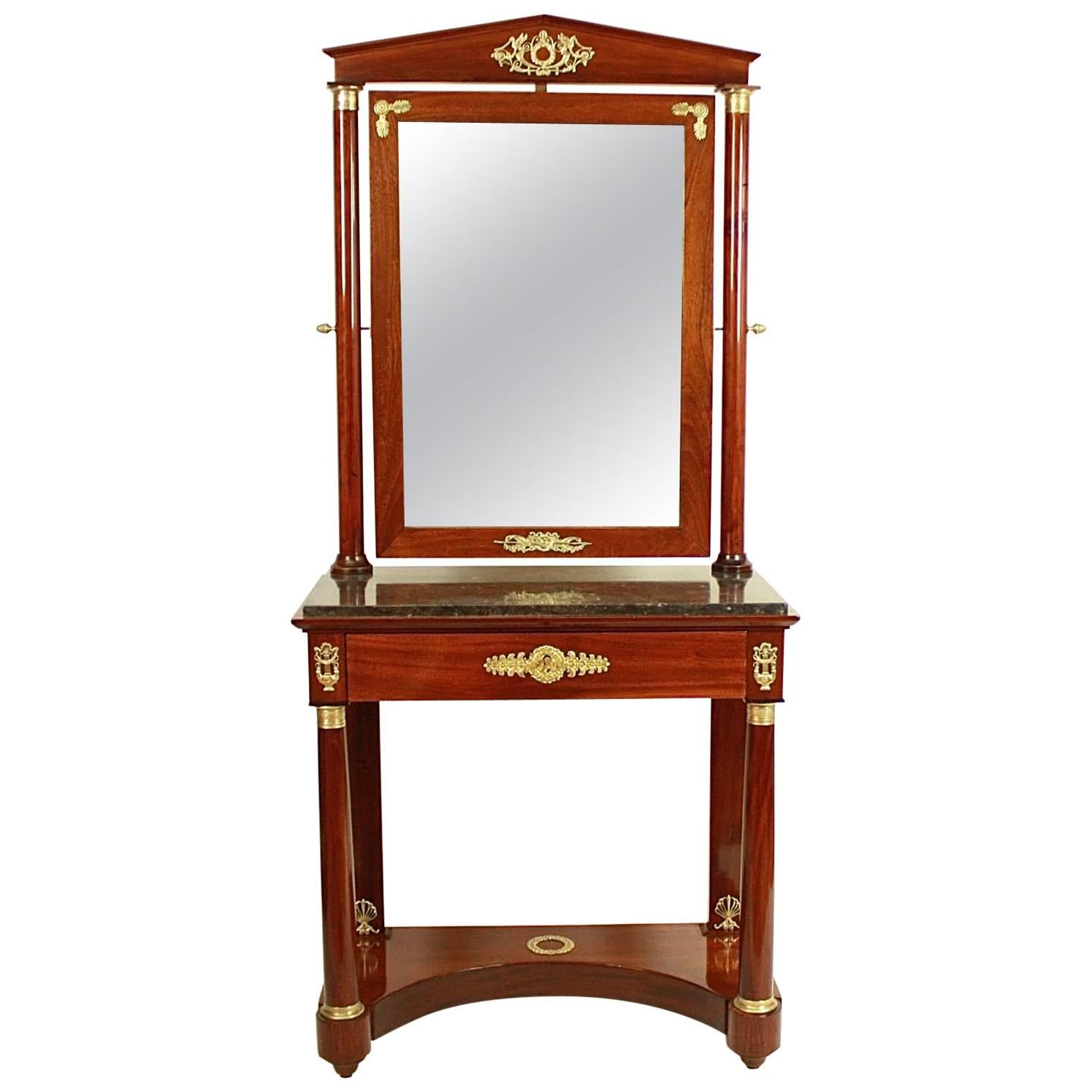 Empire Mahogany Dressing Table in the Manner of Jacob-Desmalter