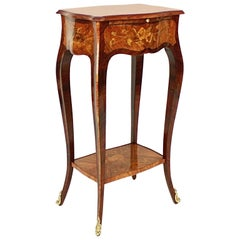 Small Louis XV Style Marquetry Side Table and Lady's Writing Table