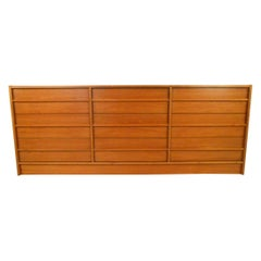Mid-Century Modern Danish Teak Nine Drawer Dresser