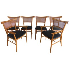 "1950s Paul McCobb Perimeter Group ""Bow Tie"" Dining Chairs, Set of Six"