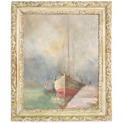 Seascape Sailboat Painting by Weston Bean