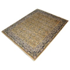 Persian Hand-Knotted Wool Throw Carpet