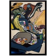 """Andrew Blake """"Ramone"""" Acrylic on Canvas"""