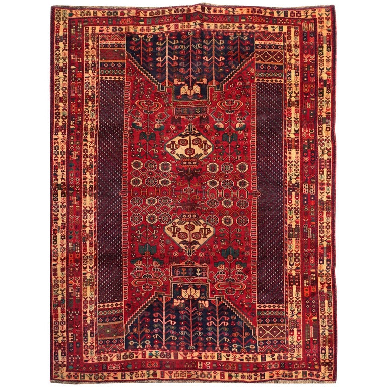 Qashqai Shiraz Rug: Vintage Nomadic Persian Qashqai Shiraz For Sale At 1stdibs