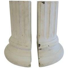 White Column Bookends