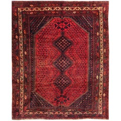 Vintage Persian Qashqai Shiraz Rug, circa 1930s