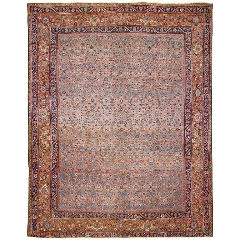 Nice blue antique mahal rug for sale at 1stdibs for Nice rugs for sale