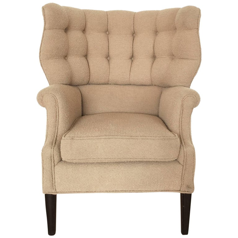 1960s Missoni Wingback Chair At 1stdibs: Modernist Mid-Century High Back Tufted Club Chair, 1960s
