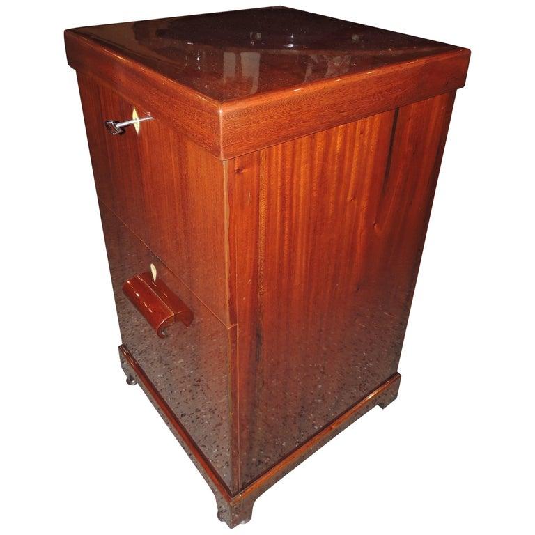 Art Deco Flip-Top Cocktail Cabinet