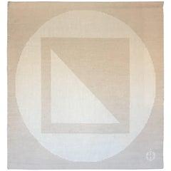 "I.Damast Textile Art Tapestry ""The Three Elements"""