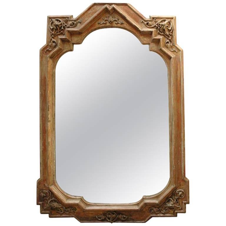 19th Century Tall Italian Neo-Gothic Mirror