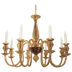Pair of  Venetian Chandeliers with 8 Arms