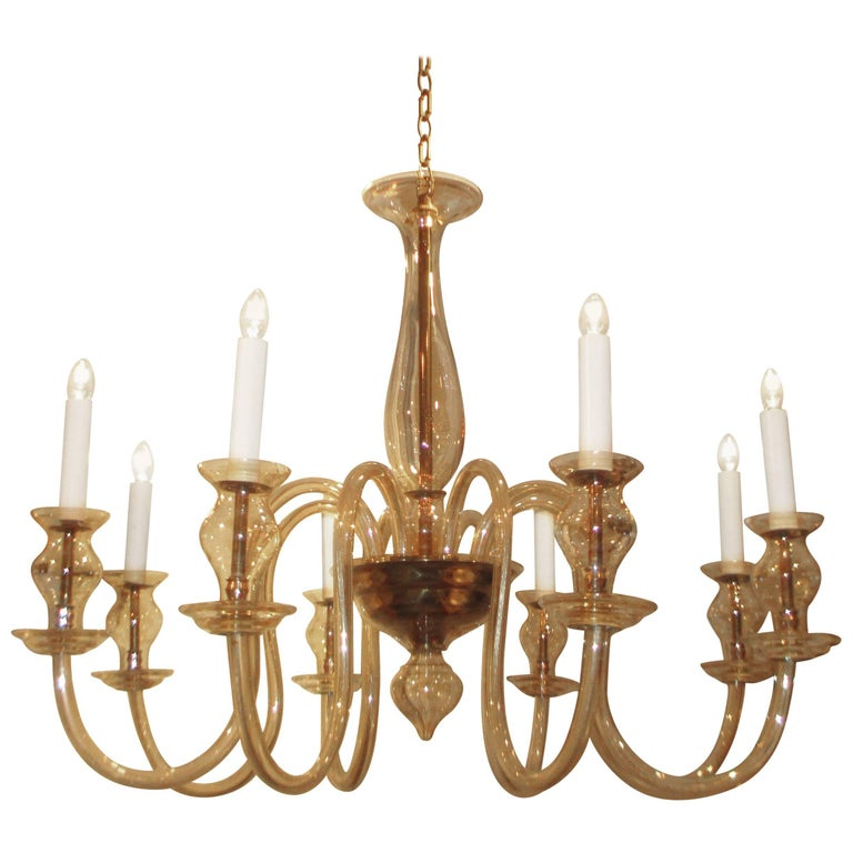 Pair of venetian chandeliers with 8 arms for sale at 1stdibs pair of venetian chandeliers with 8 arms for sale aloadofball