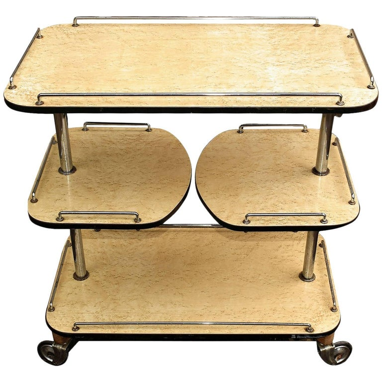 Art Deco High Style Drinks Trolley Cart