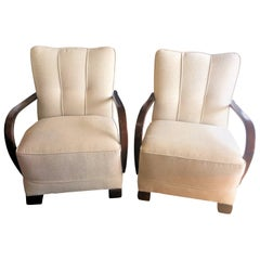 Pair of Art Deco German Armchairs