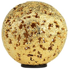 'Hot Planet' Table Lamp in 22-Karat gold & cast bronze by Christopher Kreiling