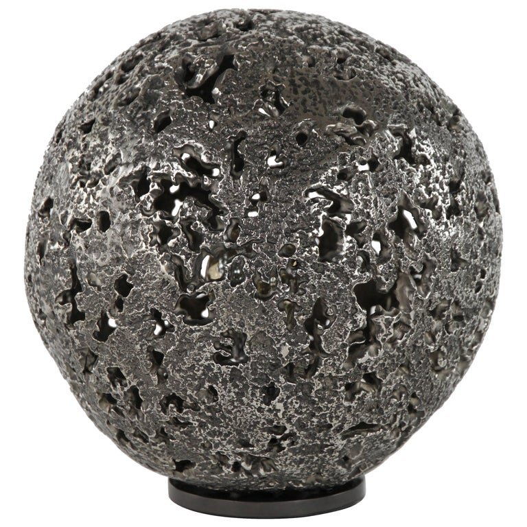 Hot Planet Table Lamp in White Bronze by Christopher Kreiling