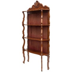 Mid-19th Century Amboyna Etagere or Standing Shelves