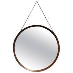 Beautiful Wood Mirror in the Taste of Paolo Buffa, circa 1960