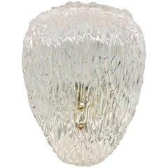 Large Kalmar Murano Glass Sconce, Brass Wall Light
