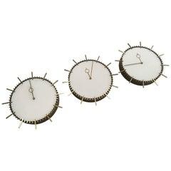 Set of Three Wall Clock by Boselli, 1950