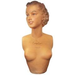 Mid-Century Mannequin Bust  Paris