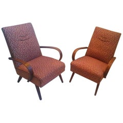 1960 Pair of Thon/Thonet Bentwood Lounge Chairs