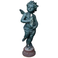 Cupid as Waterspout by A. Durenne, France, 19th Century