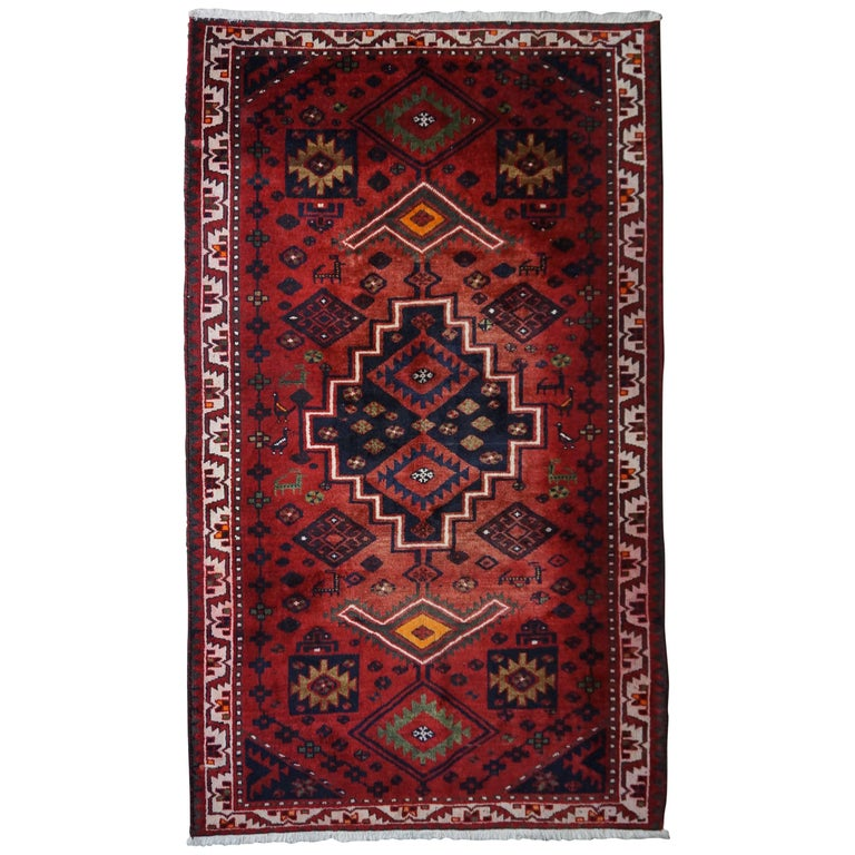 Vintage Hand-Knotted Persian Rug