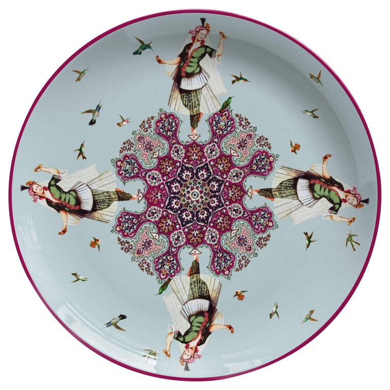 Danzatrice Porcelain Dinner Plate by Vito Nesta for Les Ottomans, Made in Italy