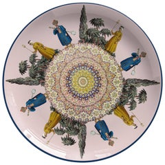 Strumenti Porcelain Dinner Plate by Vito Nesta for Les Ottomans, Made in Italy