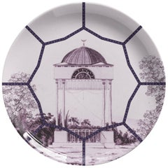 Toptaki Purple Porcelain Dinner Plate by Vito Nesta for Les Ottomans