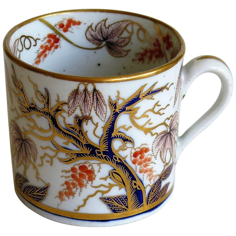 Georgian, New Hall, Coffee Can, Porcelain, Hand-Painted Pattern, circa 1805 For Sale