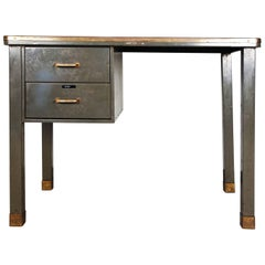 Metal Desk from the 1940s by Ribeauville Brussels