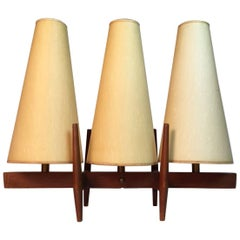 Unique Three-Shade Danish Modern Table Lamp