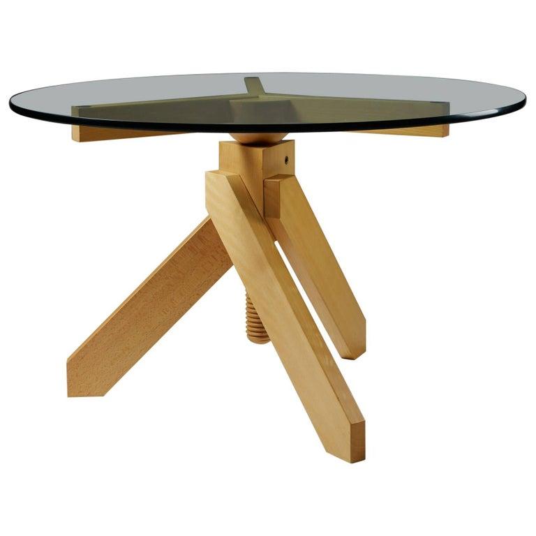 Adjustable Table Vidun Designed by Vico Magistretti for De Padova, Italy, 1986