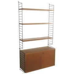 Swedish Teak Wall Unit by Nisse Strinning for String, 1960s