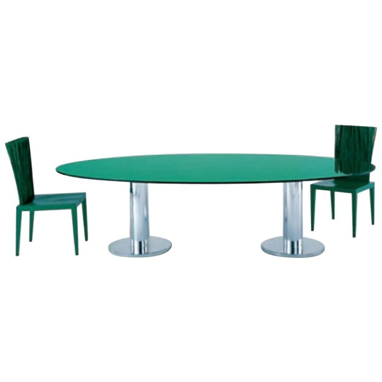 Croma Dining Or Coffee Table With Clear Or Colored Glass Top By Edra For Sale At 1stdibs