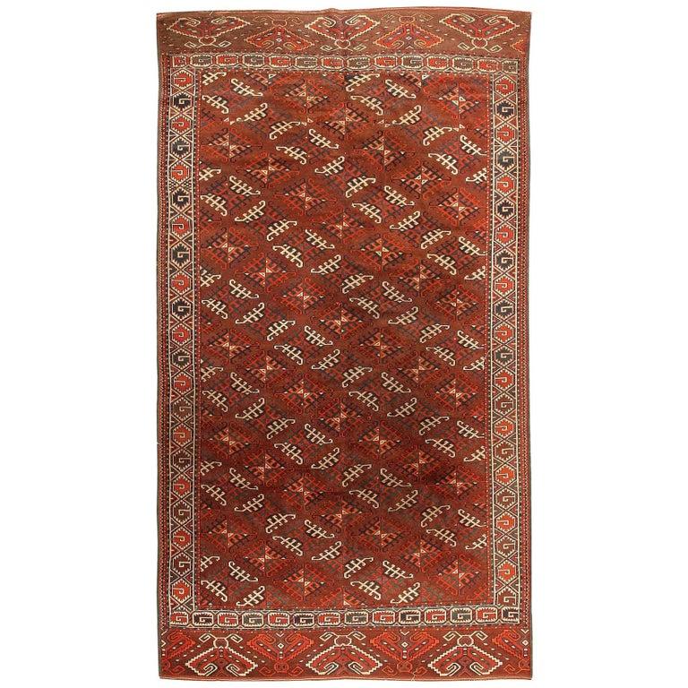 Antique Yomud Oriental Rug For Sale