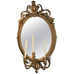 19th Century Girondelle Mirror