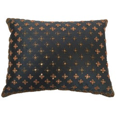 Throw Decorative Silk Accent Pillow Embellished with Sequins and Beads