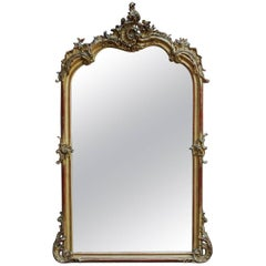 19th Century Large Louis Quinze Mirror