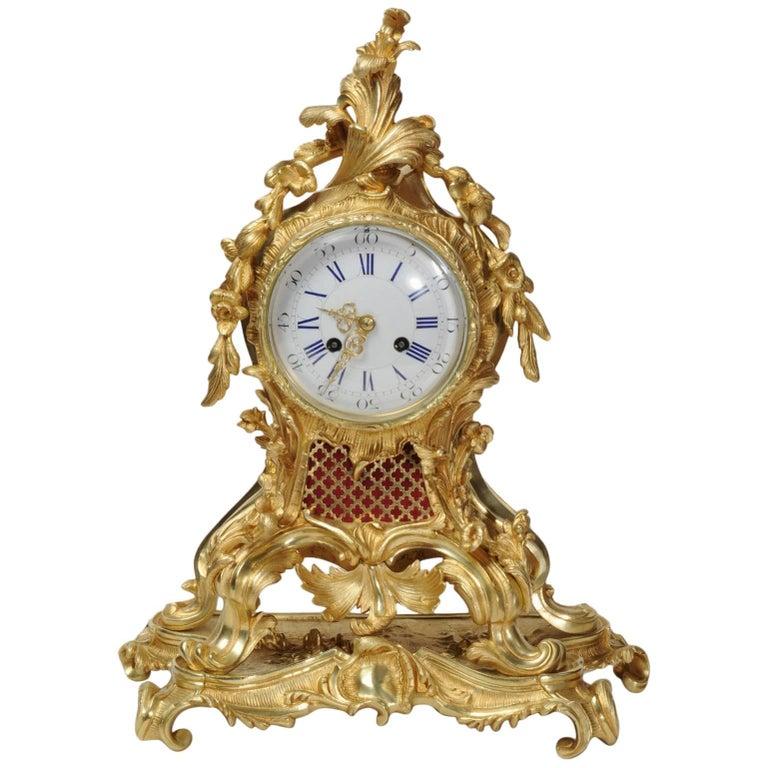 Fine Rococo Ormolu Clock by Vincenti, circa 1860